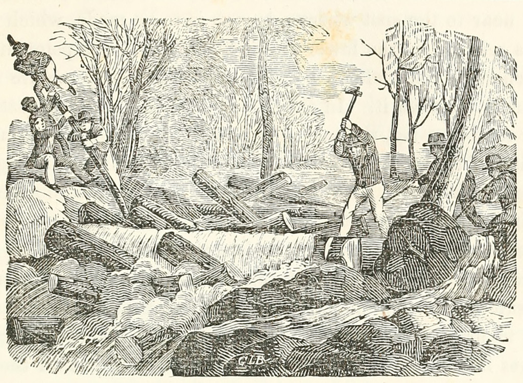 Maine River Drivers, 1851