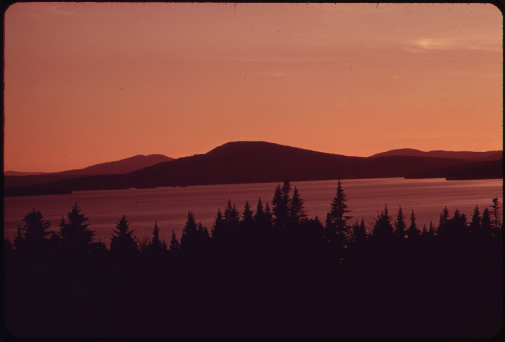 Rangeley Lake in the Mountains of Western Maine