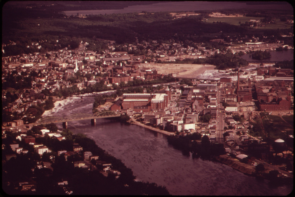Androscoggin River Running Through Lewiston/Auburn, Maine