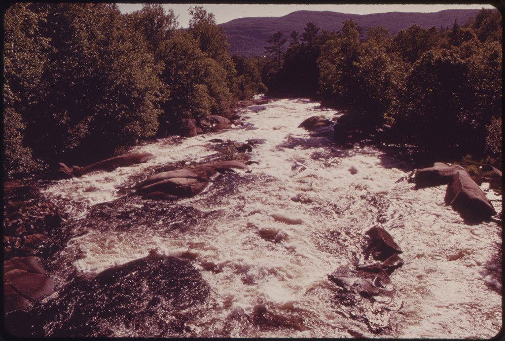 Magalloway River Below Aziscohos Dam in the Mountains of Western Maine 06/1973