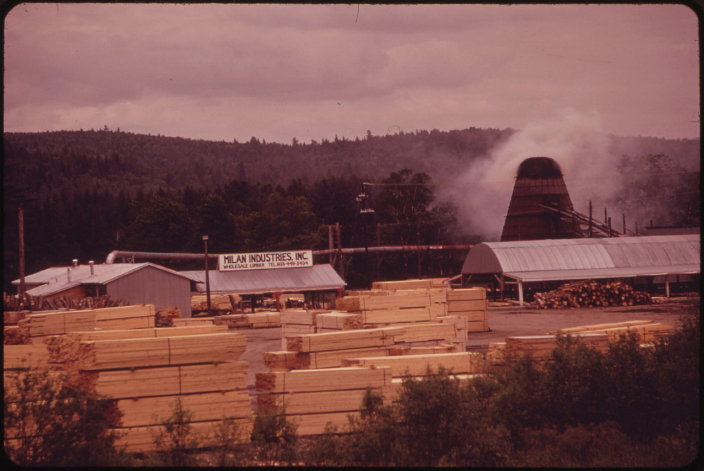 Oldest Industrial Plant on the Androscoggin River - The Lumber Mill at Milan 06/1973